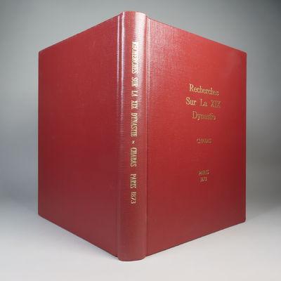 Image for Recherches pour servir a l'histoire de la xixme dynastie et specialement a celle des temps de l'exode