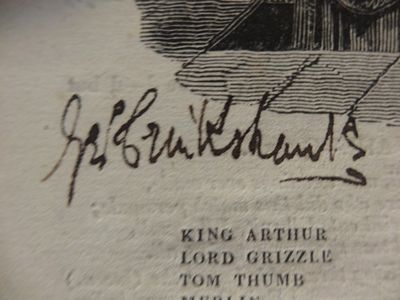 Image for The London Stage: Tom Thumb. A Burlesque Opera.  Altered by Fielding & Kane O'Hara.  Signed by Cruikshank. Bound together with The Tobacconist: A  Farce in two Acts, as altered from Ben Jonson, by Francis Gentleman