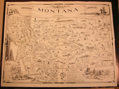 Frontier Montana Pioneer map A One Page History Dedicated to the Old Timers, Shope, Irvin and Bob Fletcher