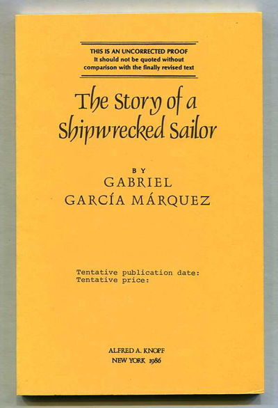 The Story of a Shipwrecked Sailor, García Márquez, Gabriel