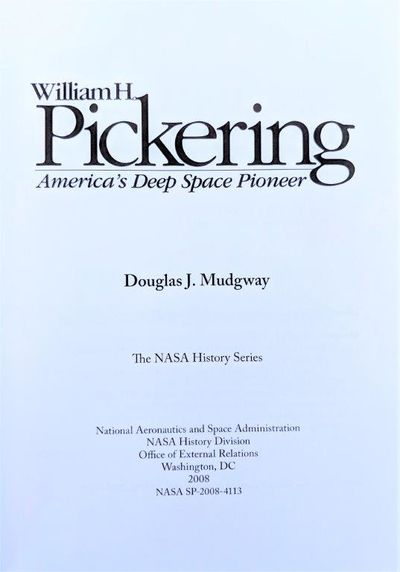 Image for William H. Pickering; America's Deep Space Pioneer.