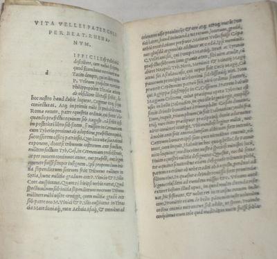 P. VELLEI PATERCULI HISTORIAE ROMANAE DUO VOLUMINA, ad M. VINICIUM COS. PRO GENERUM TIB. CAESARIS., Velleius Paterculus (c.19 BC - 31 AD).