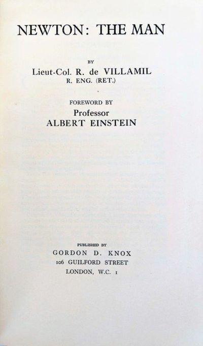 Image for Newton the Man. Foreword by Albert Einstein.