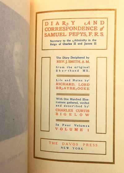 Image for Pepys' Diary and Correspondence, Edition De Luxe, complete 4-volume set