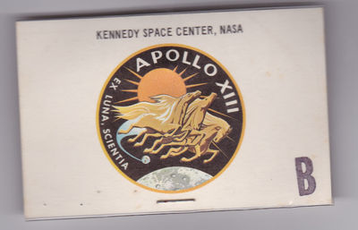 "AN ORIGINAL LAUNCH TICKET FOR THE FAMOUS ILL-FATED APOLLO 13 MOON MISSION WHICH GAVE RISE TO THE PHRASE ""HOUSTON, WE HAVE A PROBLEM""., (Agnew, Spiro; Sohmer, Art). Debus, Kurt H."