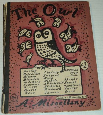 THE OWL. No. 2, October 1919. [Cover title]., (Kent, Rockwell). Graves, Robert; Sassoon, Siegfried; et al.