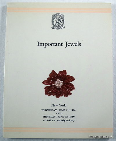 Christie's: Important Jewels.  New York - June 11 and 12, 1980 - Sale BRUSSELS, Christie's  [Auction Catalogue]