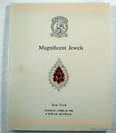 Christie's: Magnificent Jewels.  New York - April 20, 1982 - Sale DUBLIN, Christie's  [Auction Catalogue]