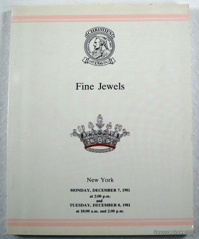 Christie's: Fine Jewels.  New York - December 7 & 8, 1980 - Sale MOSCOW, Christie's  [Auction Catalogue]