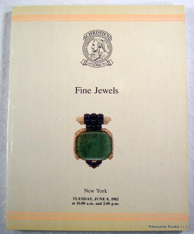 Christie's: Fine Jewels.  New York - June 8, 1982 - Sale COLOMBO, Christie's  [Auction Catalogue]