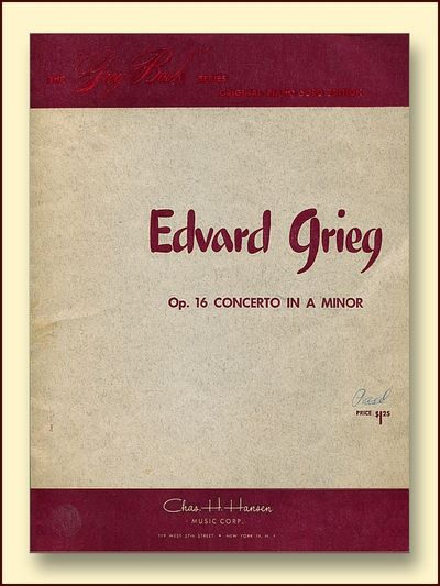 OP. 16 Concerto in A Minor   Solo Edition, Grieg, Edvard