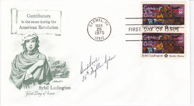 "FIRST DAY COVER SIGNED BY WORLD WAR II ACE FIGHTER PILOT KENNETH R. ""BUD"" POOL., Pool, Kenneth R. ""Bud"". (1923-2011). World War II Ace fighter pilot."