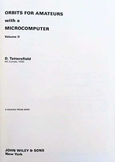 Image for Orbits for Amateurs with a Microcomputer. Volume II.