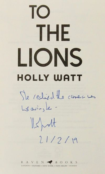 Image for To the Lions (Signed, Dated, Lined)