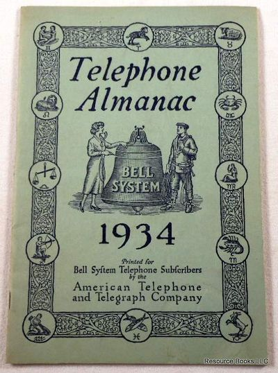 Telephone Almanac 1934, American Telephone & Telegraph Company [AT&T]