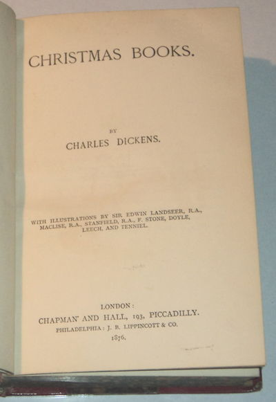 CHRISTMAS BOOKS., Dickens, Charles.