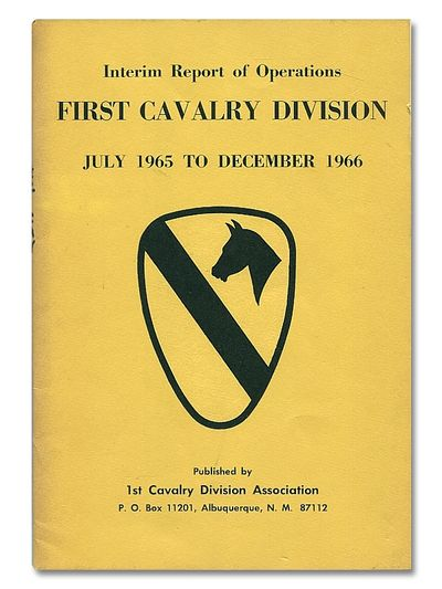 Interim Report of Operations First Cavalry Division July 1965 to December 1966, Sykes, Captain Charles S.
