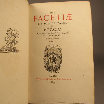 Image for The Facetiæ or Jocose Tales of Poggio