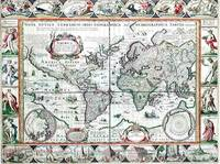 Nova Totius Terrarum Orbis Geographica Ac Hydrographica Tabula. a Pet: Kaerio( 4th State) by van den Keere, Pieter  (1571-ca.1646), copied after Blaeu, Willem  (1571-1638)