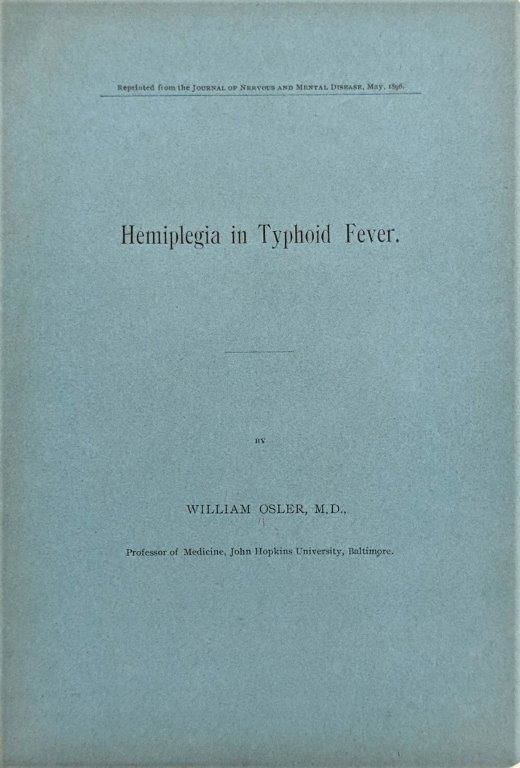 Image for Hemiplegia in Typhoid Fever. [Offprint].