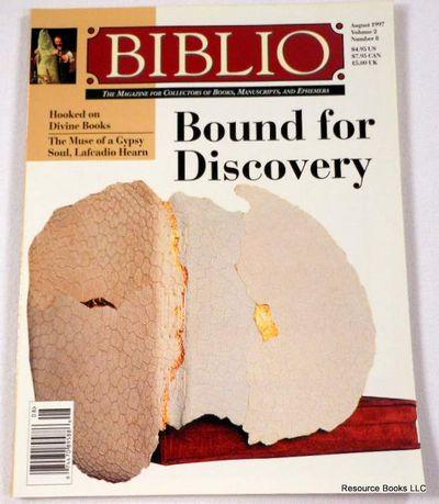 Biblio Magazine - August 1997.  Volume 2, Number 8, Biblio Magazine