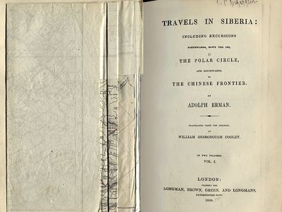Travels in Siberia: Including Excursions Northwards Down the Obi, to the Polar Circle, and Southwards, to the Chinese Frontier Vols 1 & 2, Erman, Adolf