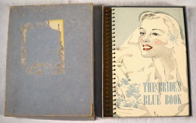 The Bride's Cook Book [Cover Title: The Bride's Blue Book].  With Original Box, [Connecticut Advertising]