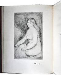 pierre auguste renoir original soft ground etching femme nue assise