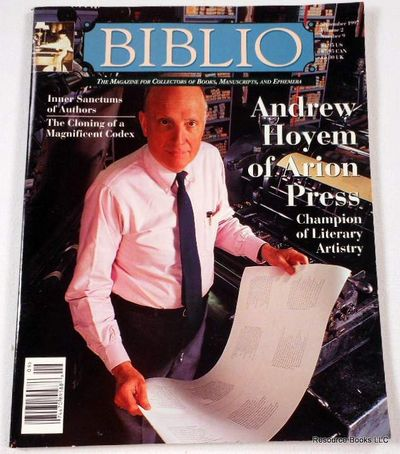 Biblio Magazine - September 1997.  Volume 2, Number 9, Biblio Magazine