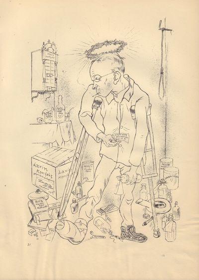 Image for Ecce Homo (Ausgabe C). Plate 21: Der Hypochonder Otto Schmalhausen.