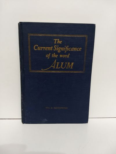 Image for The Current Significance of the Word Alum