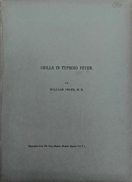 Image for Chills in Typhoid Fever. [Offprint].