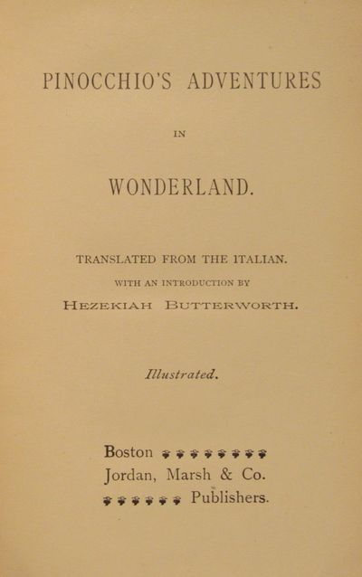 Image for Pinocchio's Adventures in Wonderland