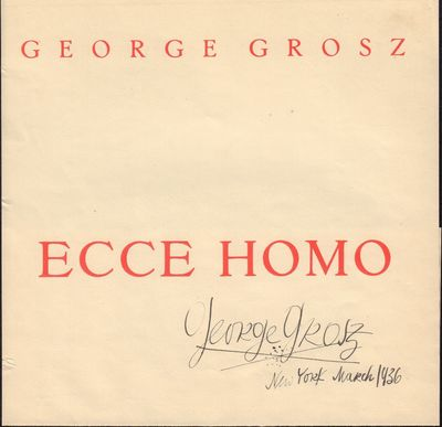Image for Title page to Ecce Homo signed in New York March, 1936