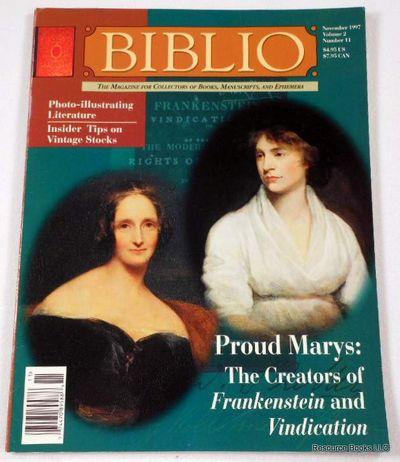 Biblio Magazine - November 1997.  Volume 2, Number 11, Biblio Magazine