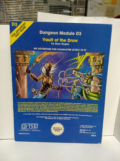 Image for Vault of the Drow (Advanced Dungeons & Dragons Module D3) (Dungeons & Dragons)