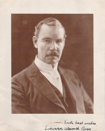 ORIGINAL PHOTO INSCRIBED AND SIGNED BY SOCIOLOGIST AND EUGENICIST EDWARD ALSWORTH ROSS., Ross, Edward Alsworth. (1866-1951). American sociologist and eugenicist, and a major figure in early criminology.