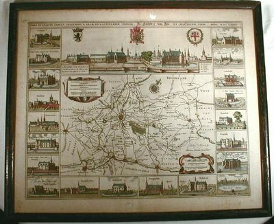 Nova et Exacta Tabula Geographica Salae et Castellaniae Ipresnsis [Map of the Diocese of Ypres], Blaeu, Joan (or Jan) (1596-1673).  Engraved By Hondius