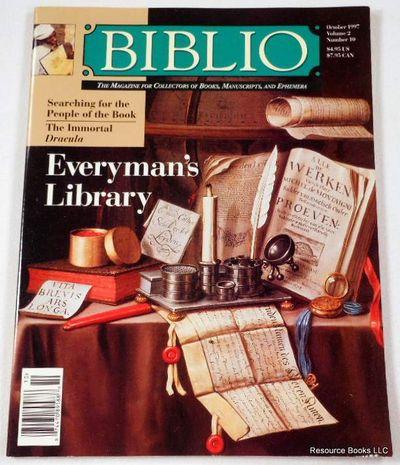 Biblio Magazine - October 1997.  Volume 2, Number 10, Biblio Magazine