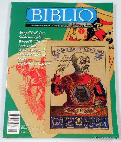 Biblio Magazine - April 1997.  Volume 2, Number 4, Biblio Magazine