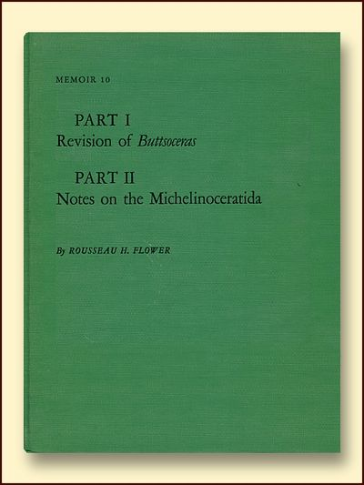 Part 1 Revision of Buttsoceras Part II Notes on the Michelinoceratida Memoir 10, Flower, Rousseau H.