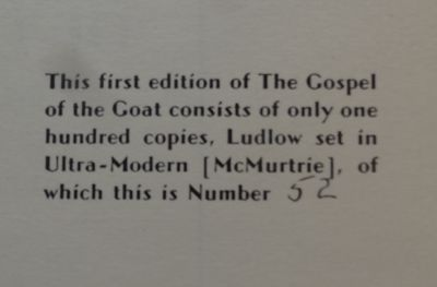 Image for Gospel of the Goat.  Thirty Lithographs. Limited, signed.