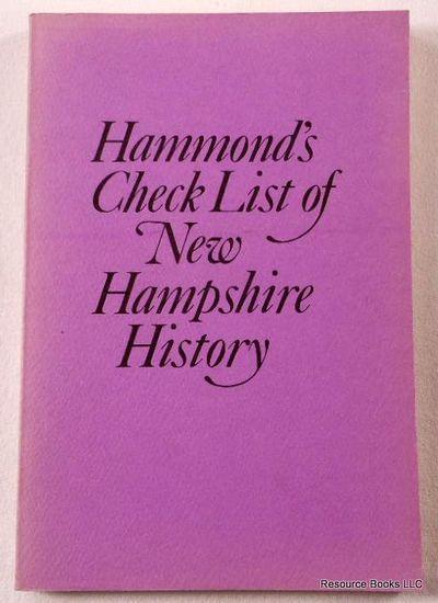 Check List of New Hampshire History, Hammond, Otis Grant