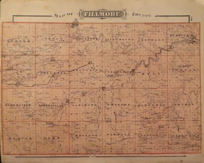Image for Map of Fillmore County 1874 - from Illustrated Historical Atlas of the  State of Minnesota
