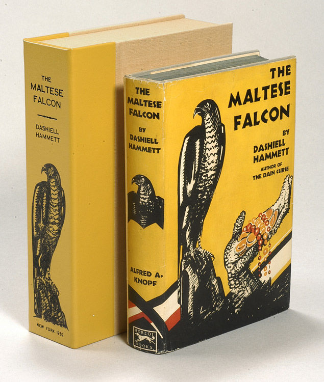 collectible copy of The Maltese Falcon