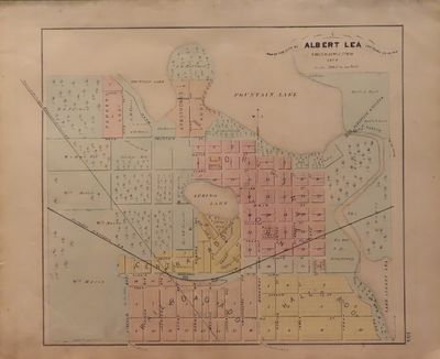 Image for Map of Albert Lea 1874 - from Illustrated Historical Atlas of the State of  Minnesota