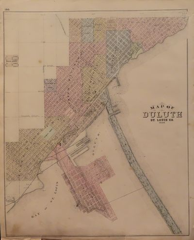 Image for Map of Duluth 1874 - from Illustrated Historical Atlas of the State of  Minnesota