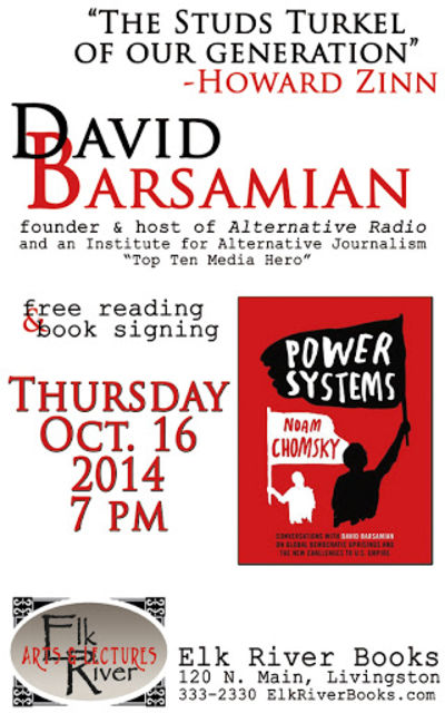 David Barsamian Poster, 16 October 2014, Barsamian, David