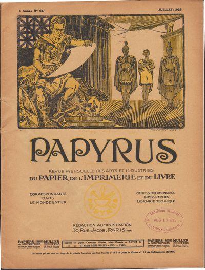 Image for Papyrus, revue mensuelle des arts et industries du papier, de l'imprimerie  et du livre.