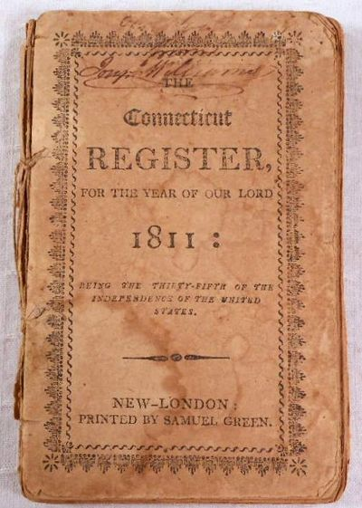The Connecticut Register for the Year of Our Lord 1811, Green, Samuel